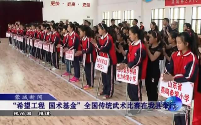 安徽电视台报道:希望工程国术基金首届全国传统武术比赛圆满落幕