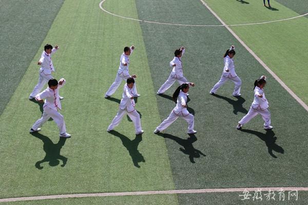 蒙城县中小学生比赛五形八法拳丰富阳光体育内涵